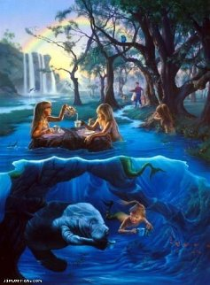 Mermaid Tea Party 2000 Limited Edition Print - Jim Warren