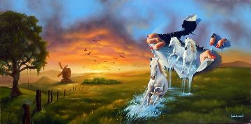 Mother Nature At Work 2013 18x36 Original Painting - Jim Warren