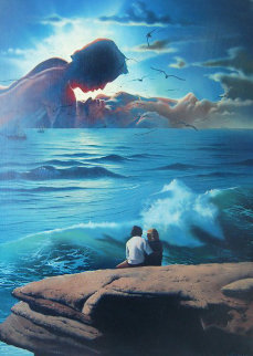 On a Romantic Day 1982 30x36 Original Painting - Jim Warren