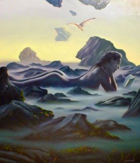 Quiet Time 1985 30x24 Original Painting - Jim Warren