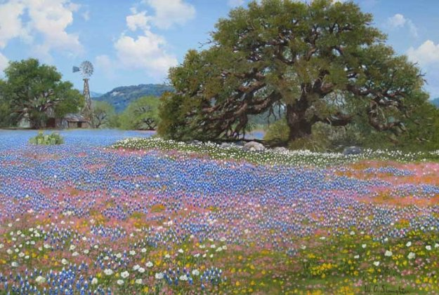 Springtime In Texas By W A Slaughter