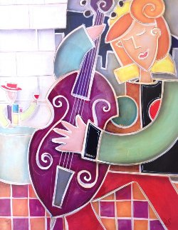Purple Bass Jazz 2007 Limited Edition Print - Eric Waugh