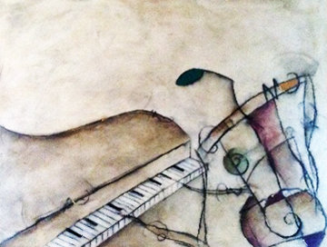 Untitled (Pianist) From the Musicians Series Original Painting - Eric Waugh
