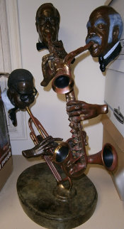 Pure Jazz Bronze Sculpture 1986 30 in Sculpture - Paul Wegner