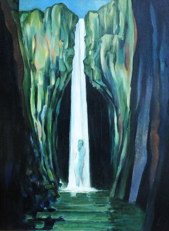 Woman in a Waterfall 2002 24x30