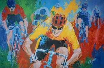 A Tour De France 50x65 Original Painting - Ken Wesman