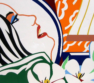 Bedroom Face With Orange Wallpaper 1987 Limited Edition Print - Tom Wesselmann