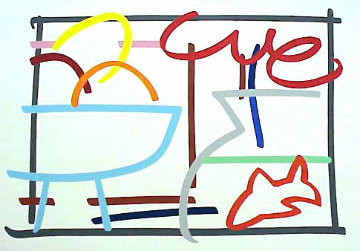 Fast Sketch Still Life With Goldfish 1989 Limited Edition Print - Tom Wesselmann