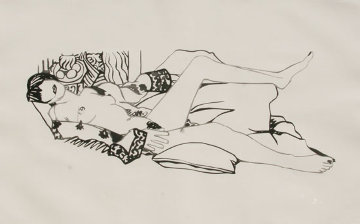 Monica Nude with Matisse 1992 Limited Edition Print - Tom Wesselmann