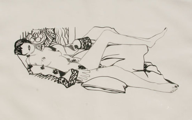 Monica Nude with Matisse 1992