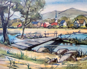 Saddle River Limited Edition Print - Edgar A Whitney