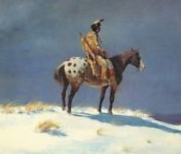 Nez Pierce on Appaloosa 1950 Limited Edition Print - Olaf Wieghorst