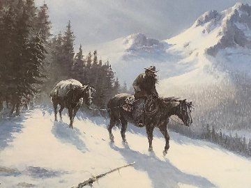 Rocky Mountain Trail 1986 Limited Edition Print - Olaf Wieghorst