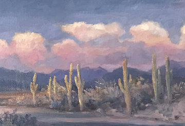 Leaving Arizona 2010 21x45 Original Painting - Gregory Wilhelmi