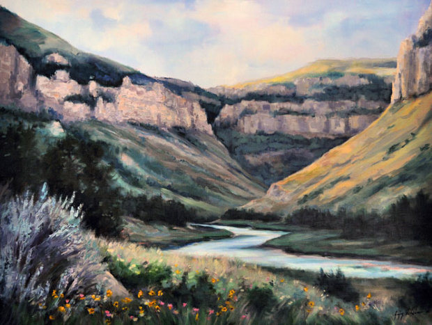 Wind River Canyon 32x42
