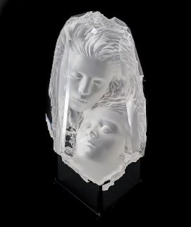 Temple Fragment Acrylic Sculpture 1997 13 in Sculpture - Michael Wilkinson