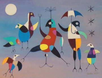 Umbrella Dancers 1970 Limited Edition Print - Jonathan Winters
