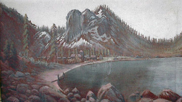 Glenbrook and Bay 1916 14x24 Original Painting - Jack Wisby