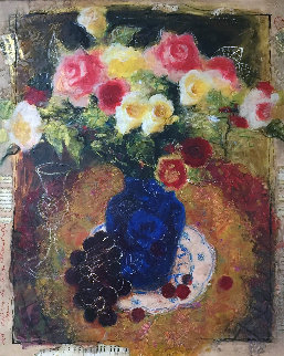 Bouquet of Life 32x28 Original Painting - Tanya Wissotzky