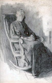 Woman in Rocking Chair 1902 Works on Paper (not prints) - William Balfour Ker
