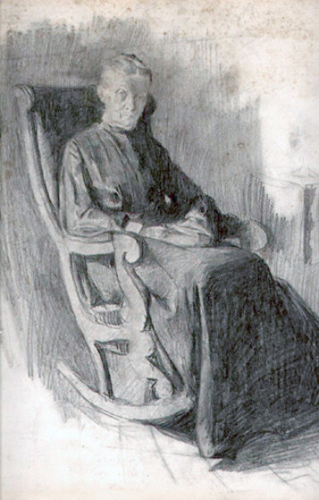 Woman In Rocking Chair 1902