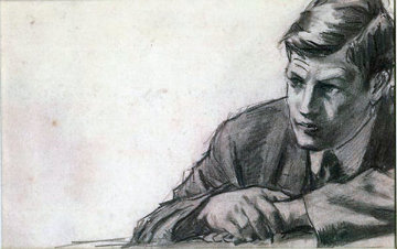 Man Study 1985 Drawing - William Balfour Ker