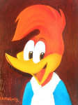 Woody's 50th Portrait 1990 25x23 Original Painting - Walter Lantz