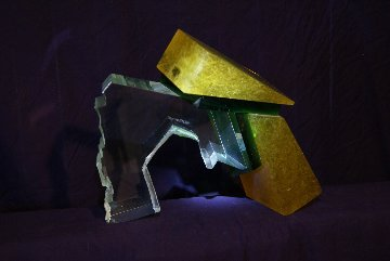 Untitled Glass Sculpture 1987 12 in Sculpture - Jon Wolfe
