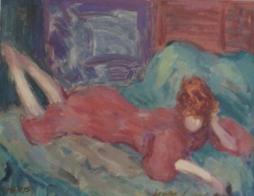 Relaxed Woman 1991 Limited Edition Print - Barbara Wood