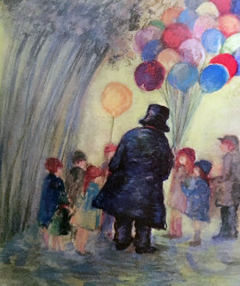 Balloon Man 2002 Limited Edition Print - Barbara Wood