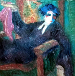 Untitled (Seated Woman) Limited Edition Print - Barbara Wood