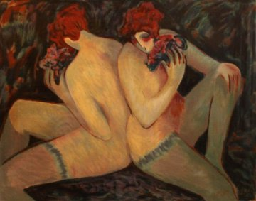 Nudes With Flowers  1998 Limited Edition Print - Barbara Wood