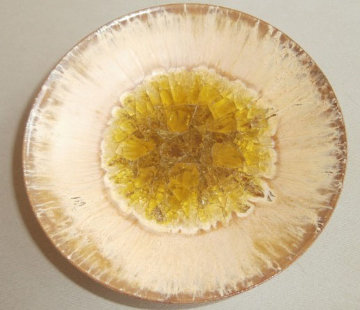 Yellow Glazed Jeweled Ceramic Bowl 1950 6 in Sculpture - Beatrice Wood