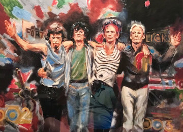 Forty Licks 1996 Limited Edition Print - Ronnie Wood (Rolling Stones)