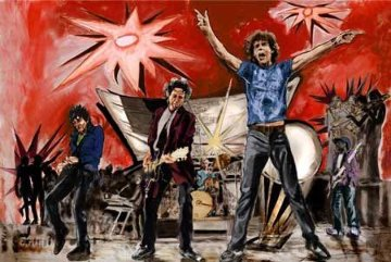 Bigger Bang Red Limited Edition Print - Ronnie Wood (Rolling Stones)
