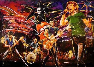 Skulls on Stage 2009 Limited Edition Print - Ronnie Wood (Rolling Stones)