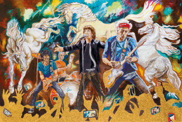 Electric Horses Limited Edition Print - Ronnie Wood (Rolling Stones)