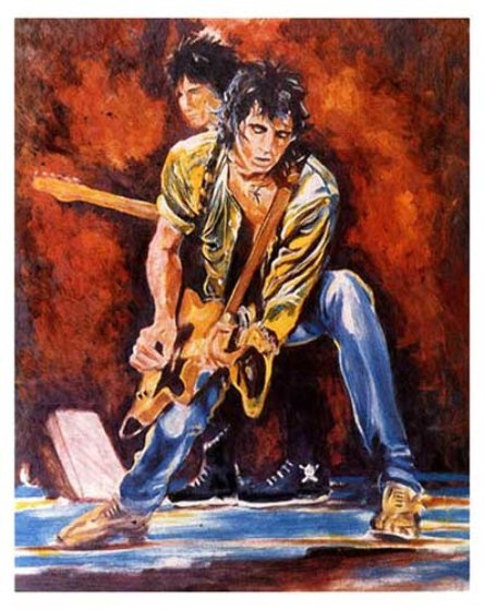 Keith And Ronnie On Stage 1993 By Ronnie Wood Rolling Stones