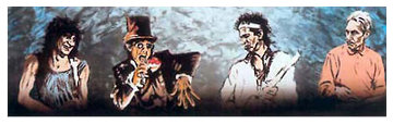 Voodoo 4 I Blue AP 1997 Limited Edition Print - Ronnie Wood (Rolling Stones)