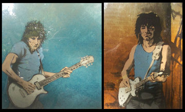 Solo I and II 1992 Limited Edition Print - Ronnie Wood (Rolling Stones)