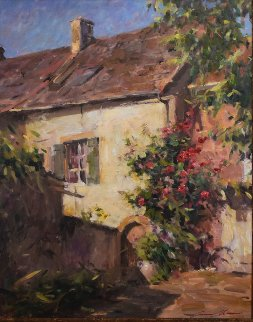 Cottage of Roses Limited Edition Print - Leonard Wren
