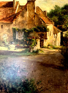 Above the Village 2000 Limited Edition Print - Leonard Wren