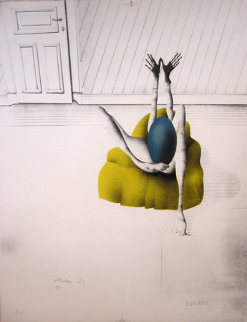 l'Oeuf Bleu 1970 Limited Edition Print - Paul Wunderlich