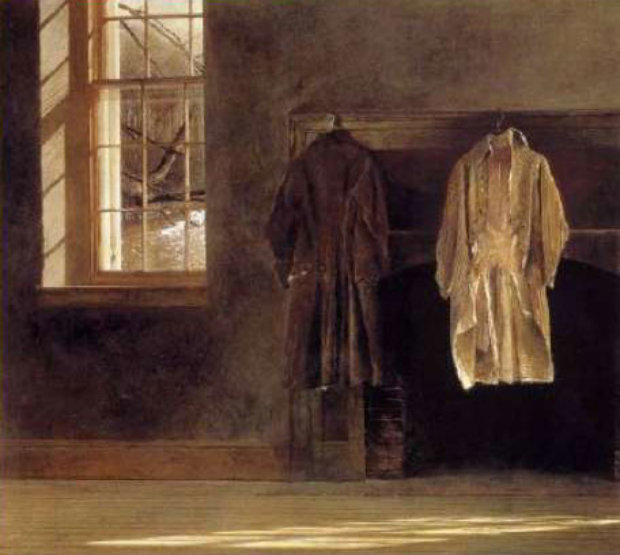 Master Bedroom 1985 by Andrew Wyeth
