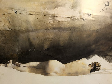 Helga Pictures,  a Study For Baracoon  1976 HS by Helga and Andrew Limited Edition Print - Andrew Wyeth