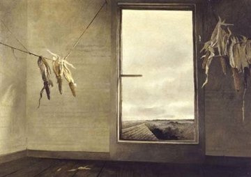 Seed Corn 1948 20x24 HS Limited Edition Print - Andrew Wyeth