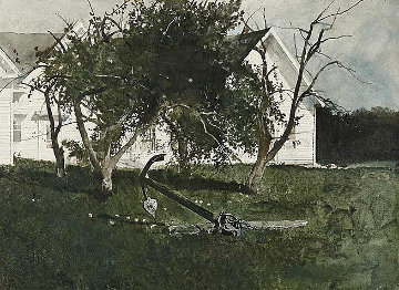 Sea Anchor 1977 Hand Signed Limited Edition Print - Andrew Wyeth