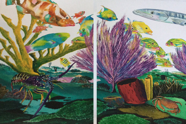 Coral Reef Life  Diptych 2005