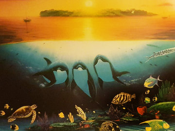 Sunset Celebration 1997 Limited Edition Print - Robert Wyland
