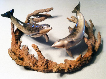 Minds in the Water  Bronze   Sculpture 1999 19 in Sculpture - Robert Wyland